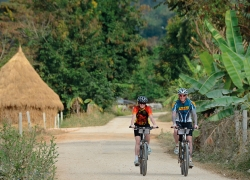 Biking of Northern Thai Countryside Discovery